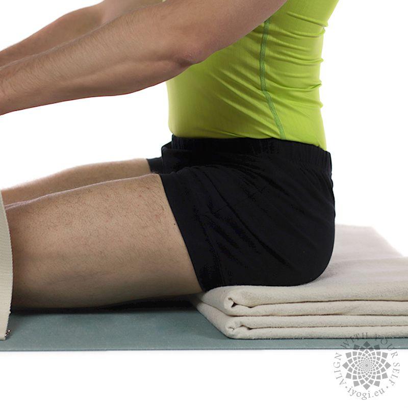 Cotton yoga blanket natural