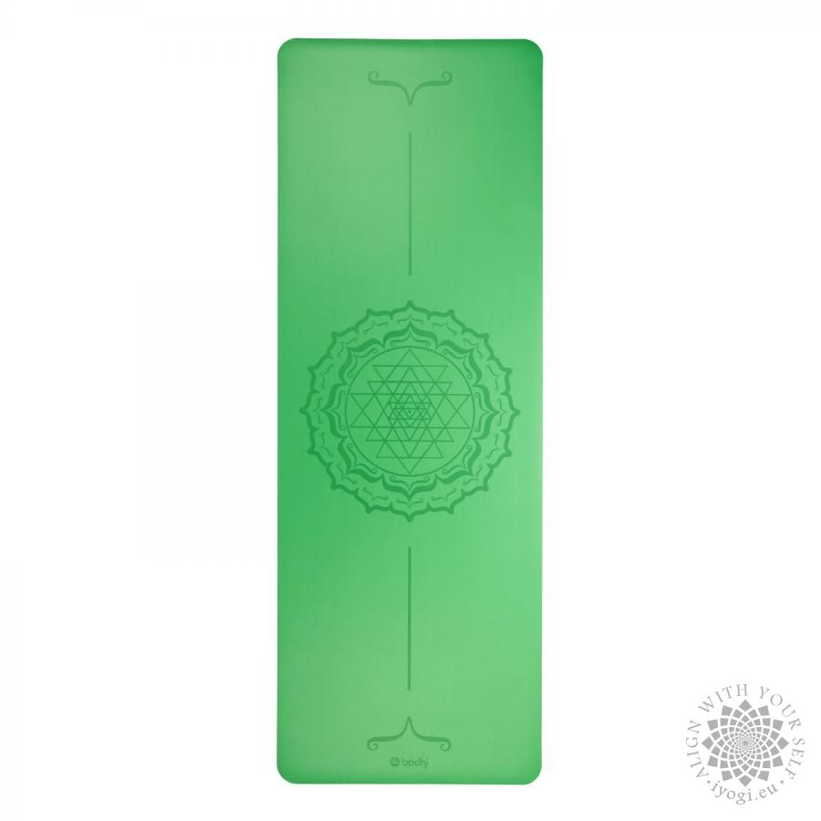 Bodhi PHOENIX Design Mat, green with Yantra mandala
