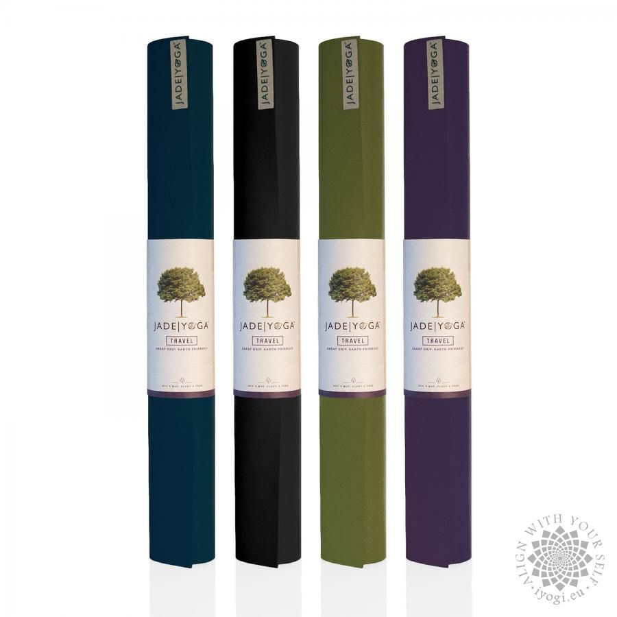 Jade Travel Yoga Mat Black