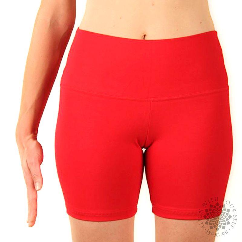 iyogi Women yoga shorts - red