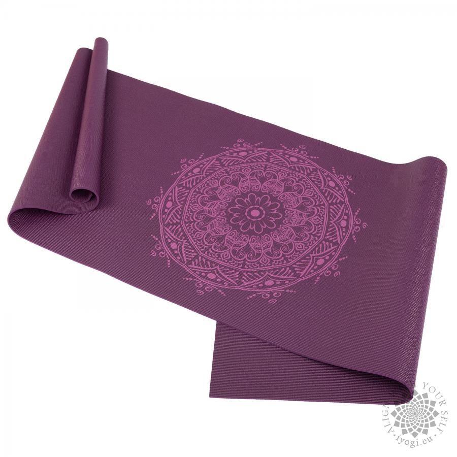 Bodhi LEELA Aubergine Mandala Aubergine Yoga Mat
