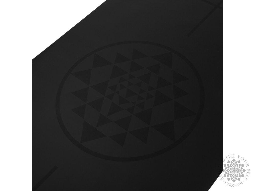 Bodhi PHOENIX Design Mat, black with Alignment-Yantra