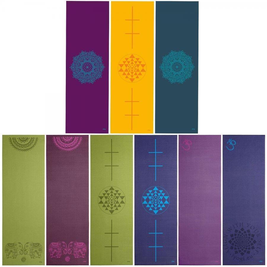 Bodhi LEELA Yoga Mat Aubergine Mandala Turquoise