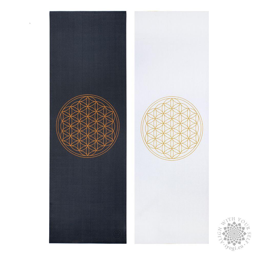 Bodhi LEELA White Flower of Life Yoga Mat