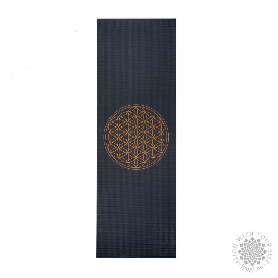 Bodhi LEELA Anthracite Flower of Life Yoga Mat