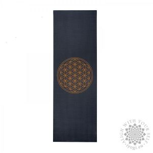 Bodhi LEELA Anthracite Flower of Life Yoga Mat